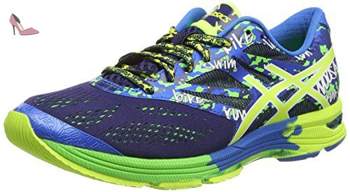 Chaussures de Running Homme - Vert - Vert (Green Gecko/Silver/Safety Yellow), 39 EU EUAsics