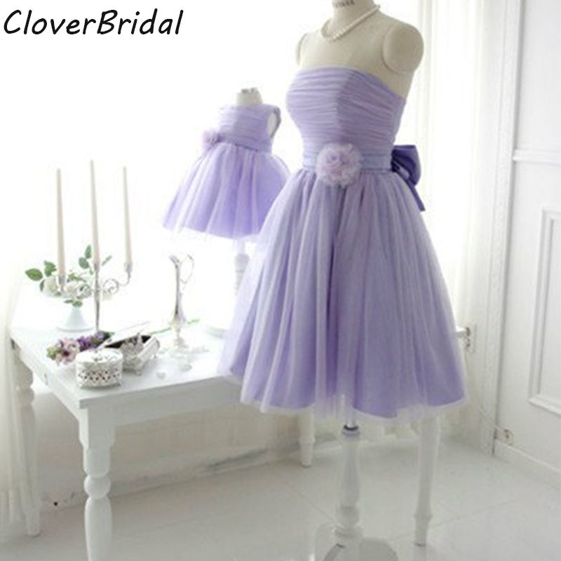 Free customize online sale tulle strapless short fashion