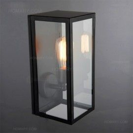 Black Outdoor Wall Light $99 square matte black single-light outdoor wall lantern