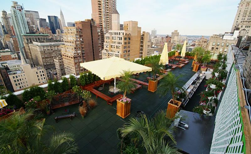 Hospitality Interior Design 230 Fifth Restaurant Rooftop Outdoor