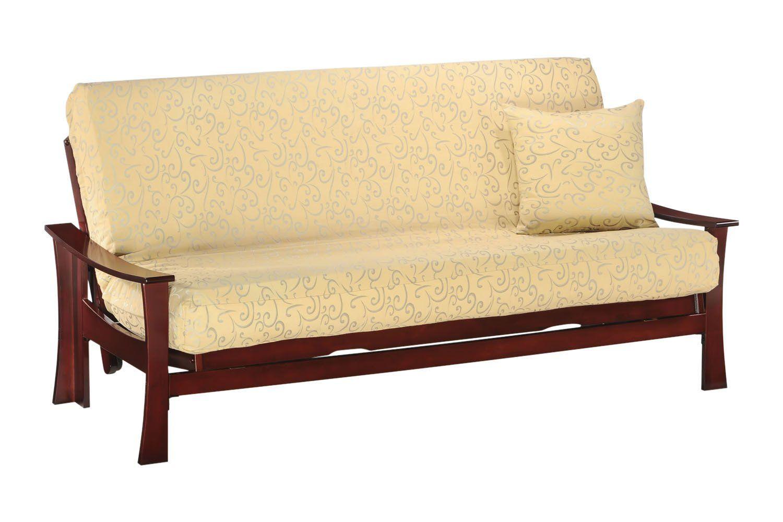 fuji loveseat lounger futon frame in rosewood finish futon frame