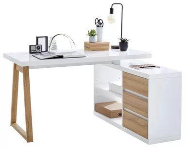 Corner Desk Oak Colors White Mit Bildern Eckschreibtisch Buromobel Design Eckschreibtisch Weiss