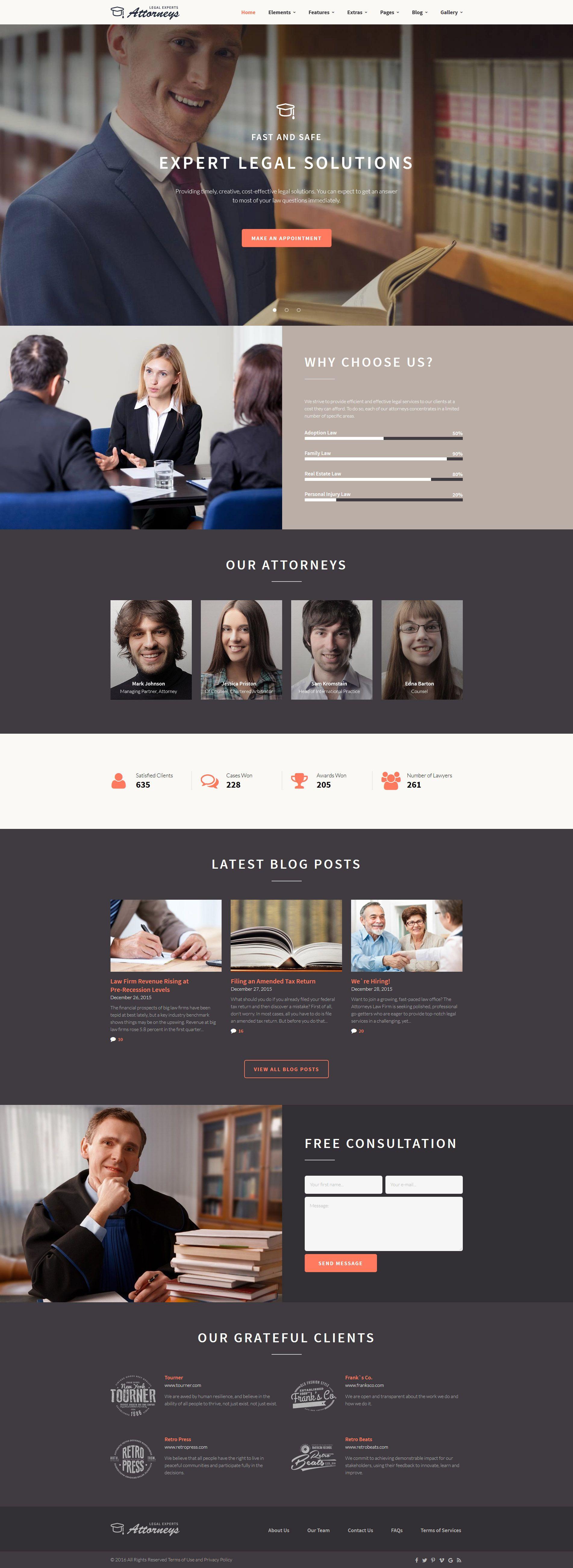 Law Firm Responsive Website Template | Pinterest | Template, Website ...