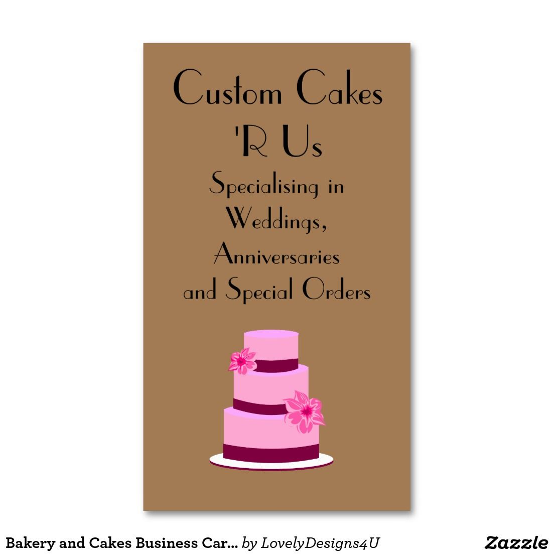Bakery and Cakes Business Cards | Business Cards | Pinterest