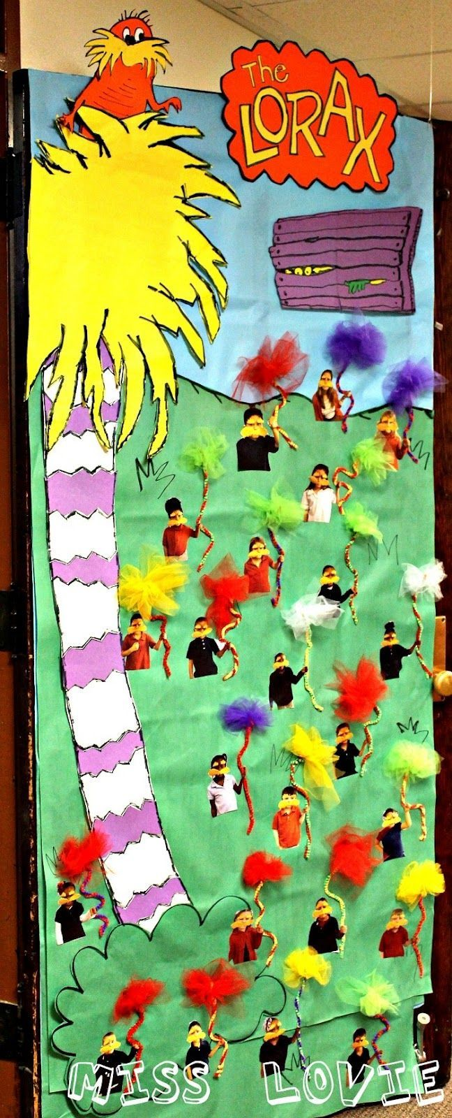 Miss Lovie Truffula Tree Kids Craft Tutorial And The Lorax Door