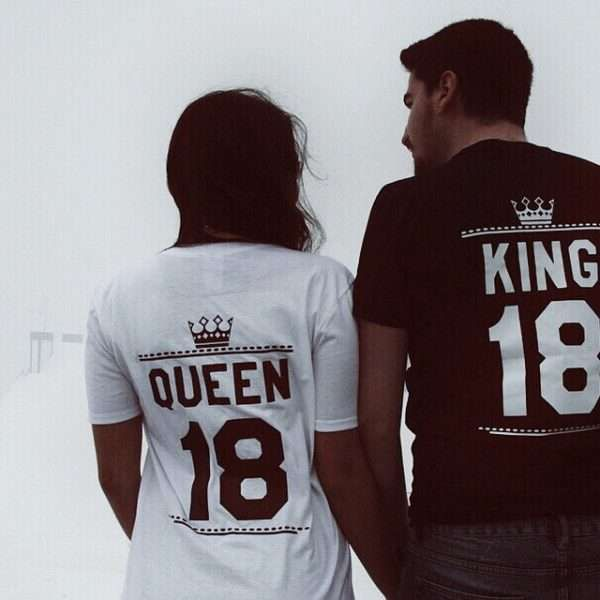 18ca5f9da8 King and Queen with custom numbers? Match your inner royalty with these  Epic Tees! Get yours now!