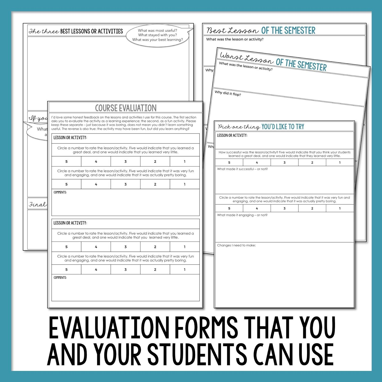 Course Evaluation Teacher Growth Learning Something New
