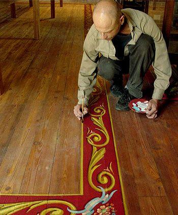 Alfredo genovese pintando fileteado porte o en el hotel for Casa silvia muebles y colchones olavarria buenos aires