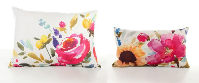 watercolor pillows Inside Stuff Pinterest Watercolour