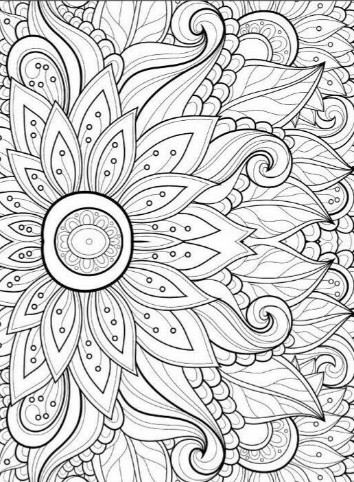 Zen Flower Coloring Pages Free Adult Coloring Pages Flower