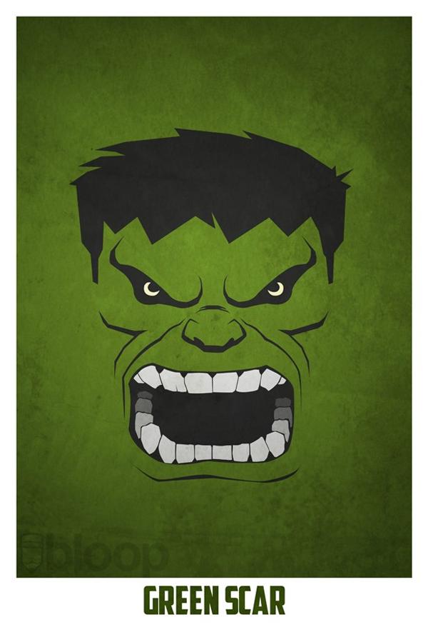 Hulk minimalista  i like  Pinterest  Hulk Minimalistas y Nevera