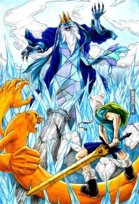 Finn & Jake battle the Ice King