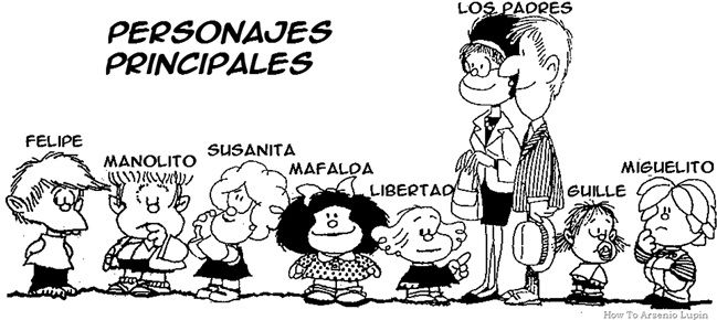Personajes del dibujante Quino (Mafalda) | Culture espagnole, Espagnol, Personnage