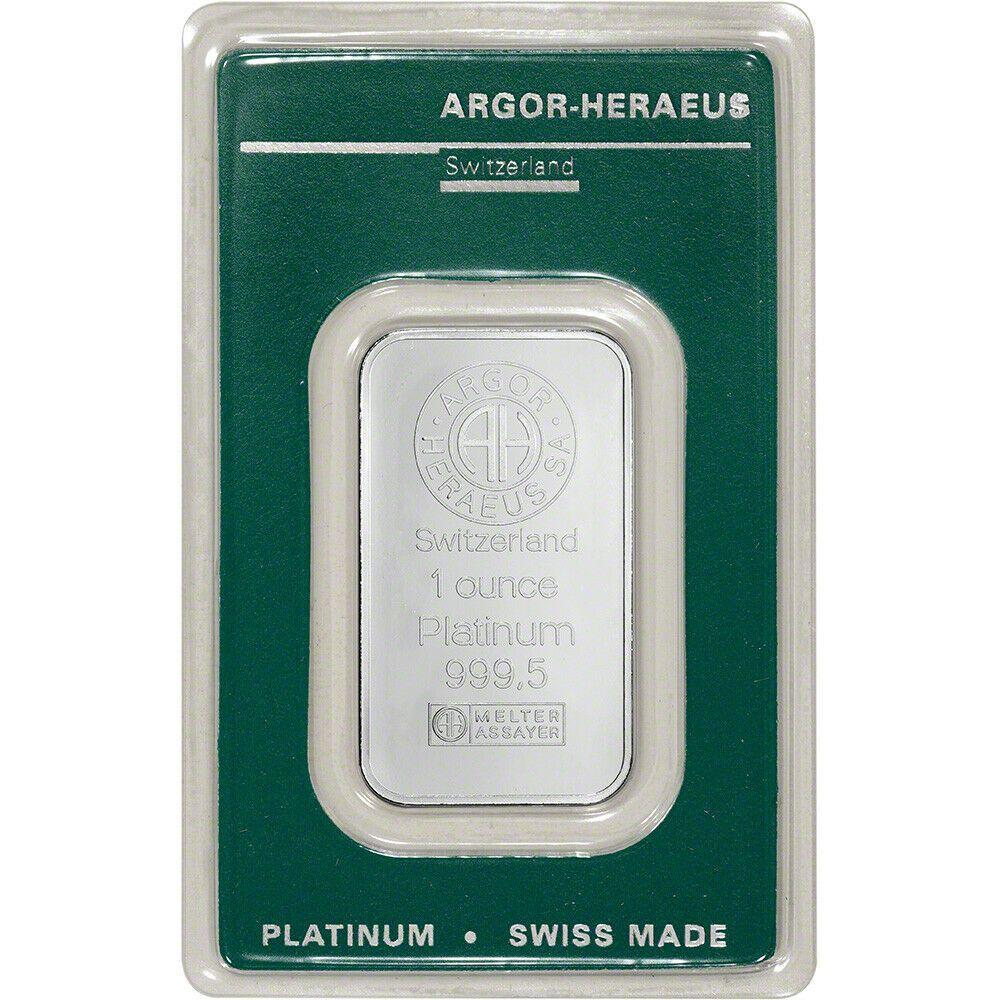 Details About 1 Oz Platinum Bar Argor Heraeus 999 5 Fine In Assay In 2020