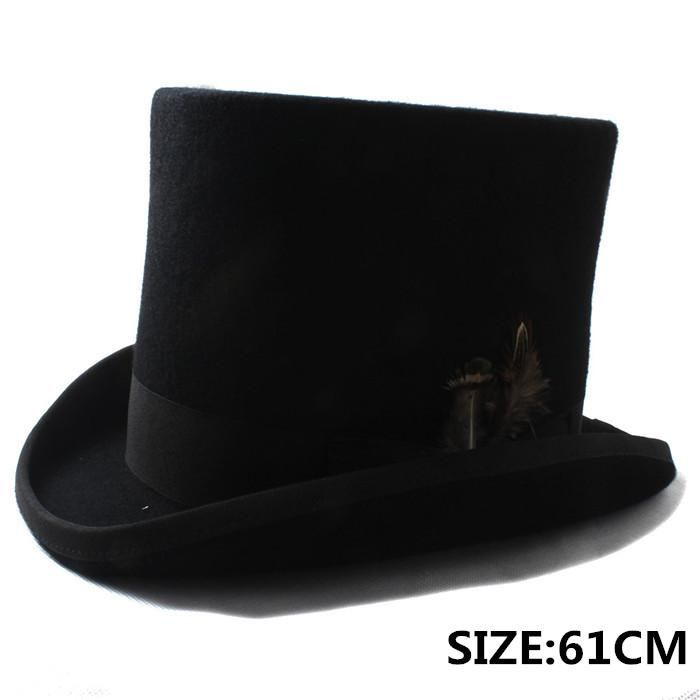 6c0b3c129309f 100% Wool Mad Hatter Victorian Church Hat In Black or White