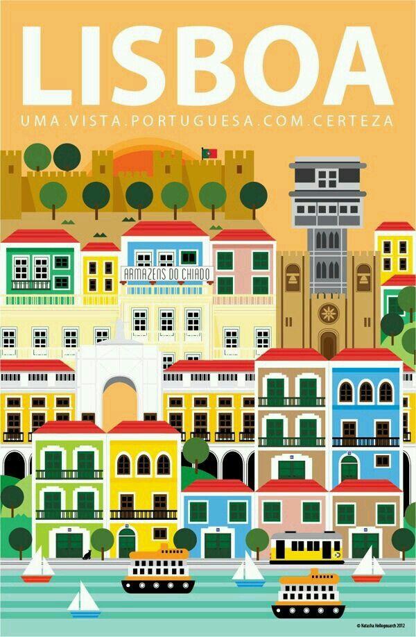 Pin Di The Electric Library Su Travel Vintage Poster Viaggio Lisbona Mappe Illustrate