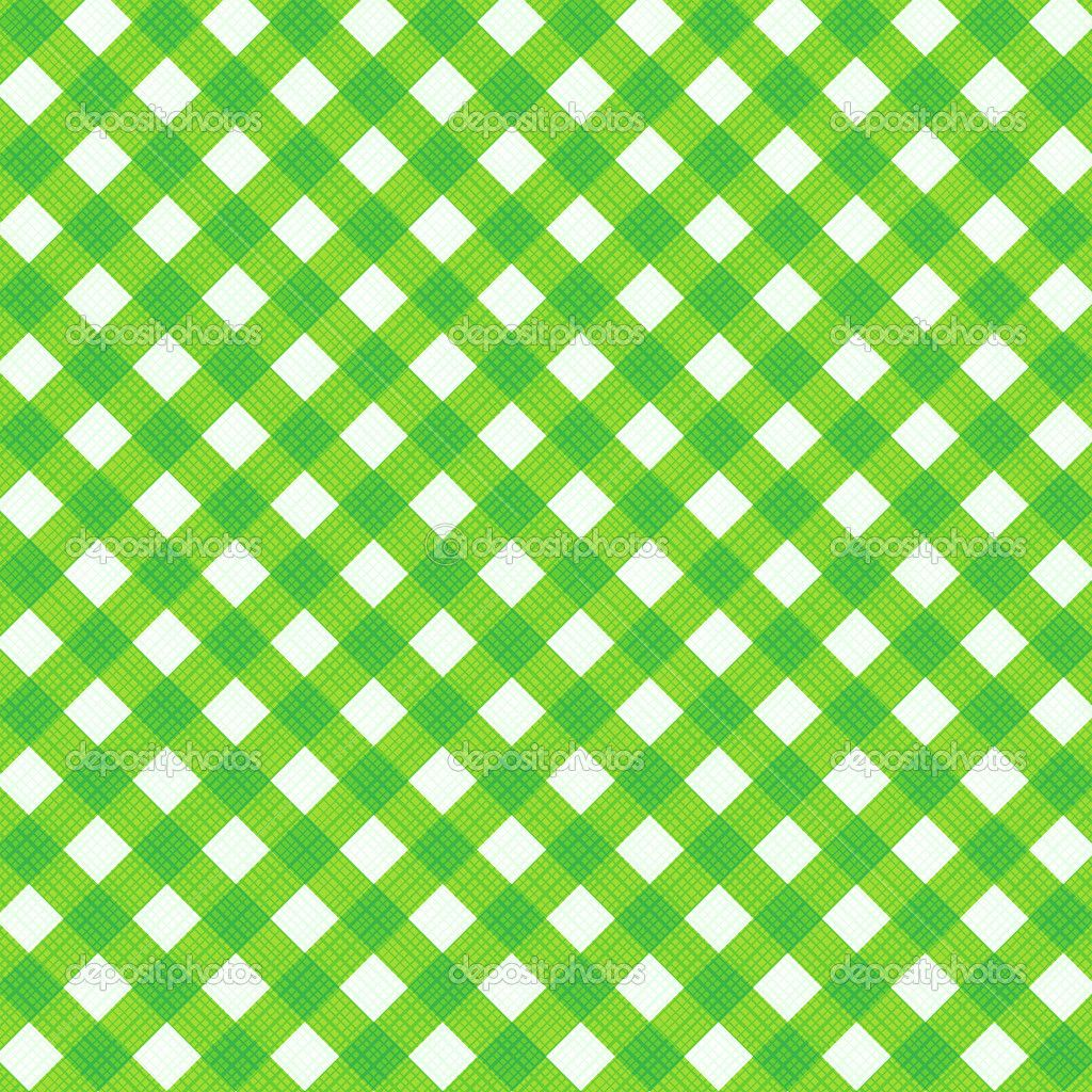 Fresh green gingham fabric cloth, seamless pattern included ...
