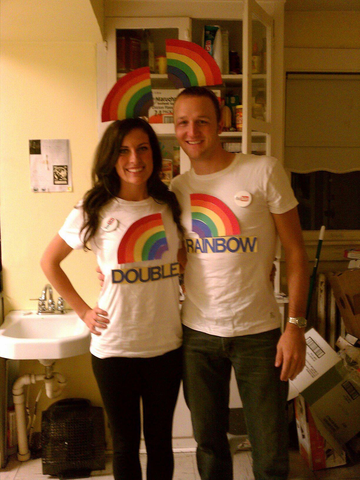 Couples Halloween Costume Double Rainbow (see youtube