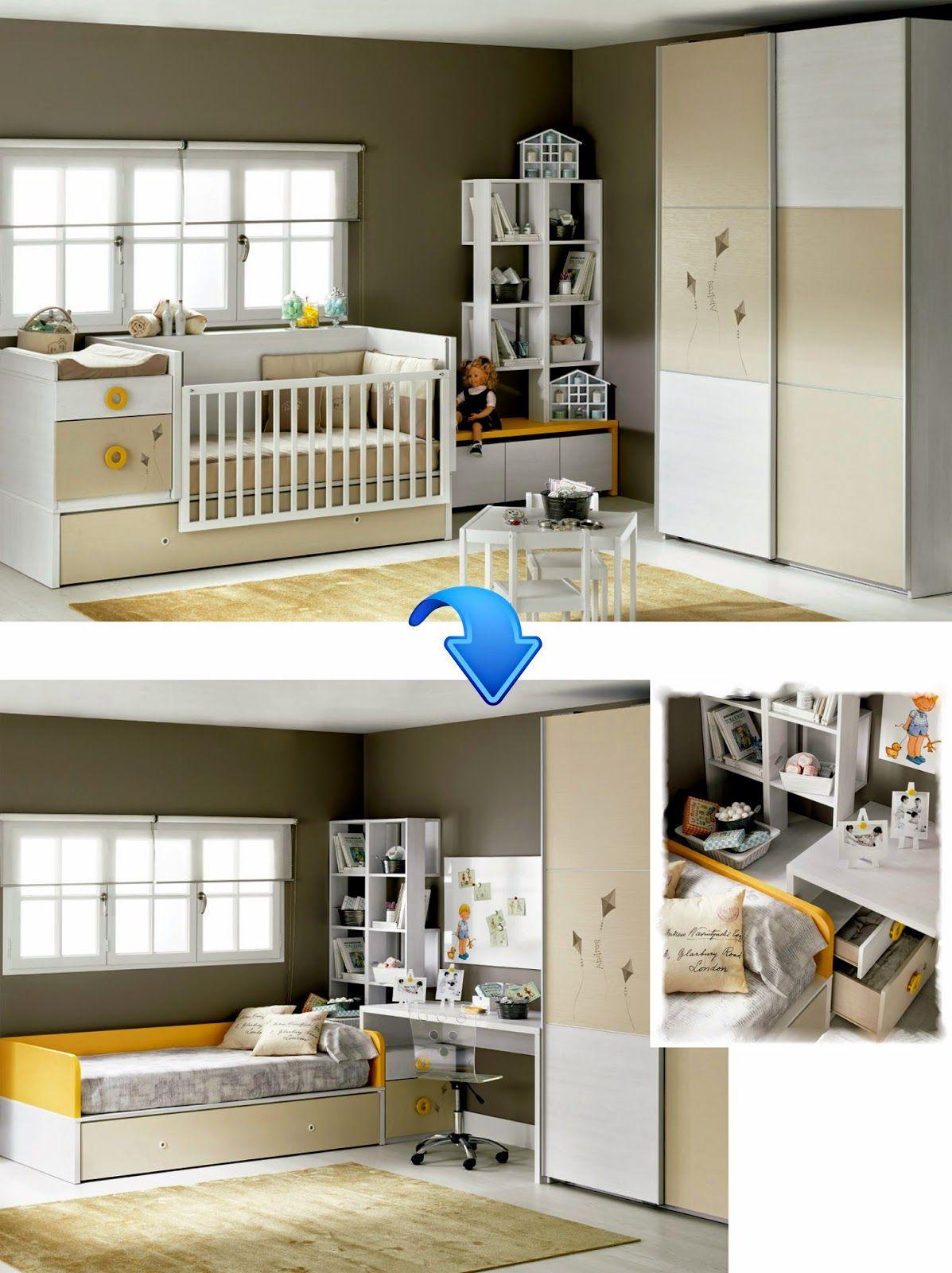 Cuna convertible con cama nido de muebles m2 camacuna for Muebles convertibles en cama
