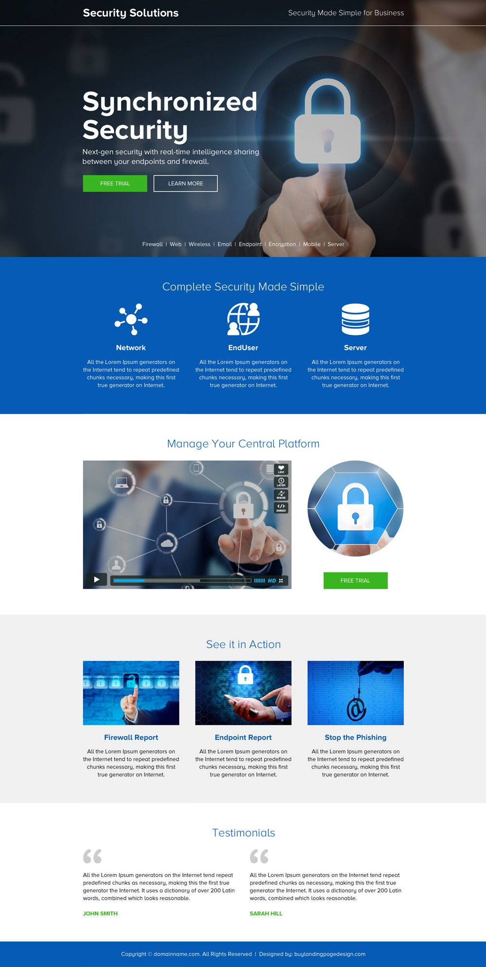Responsive Security Solution For Business Landing Page Security Securityservices Securityguard Security Web Design Websites Landing Page Security Solutions