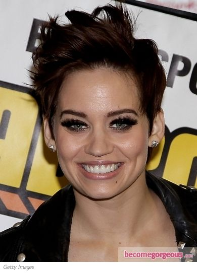 Frontpoofhairstyle Images Of Kimberly Wyatt Brunette Short