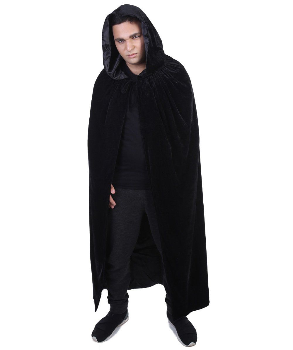 Adult Men's Black Vampire Cape | Grey Robe Horror Halloween Costume #halloweencostumesformen