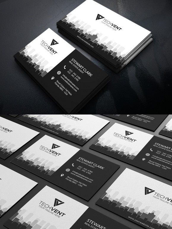 Real estate business card template business card templates real estate business card template flashek Choice Image