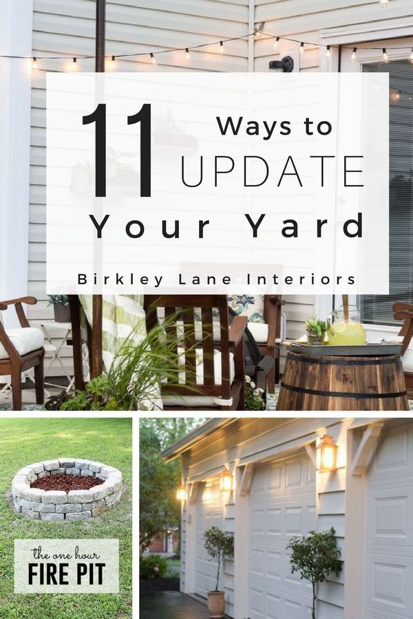 Outdoor Decorating Ideas On A Budget.11 Ways To Update Your Yard Outdoor Decor Pinterest Sad