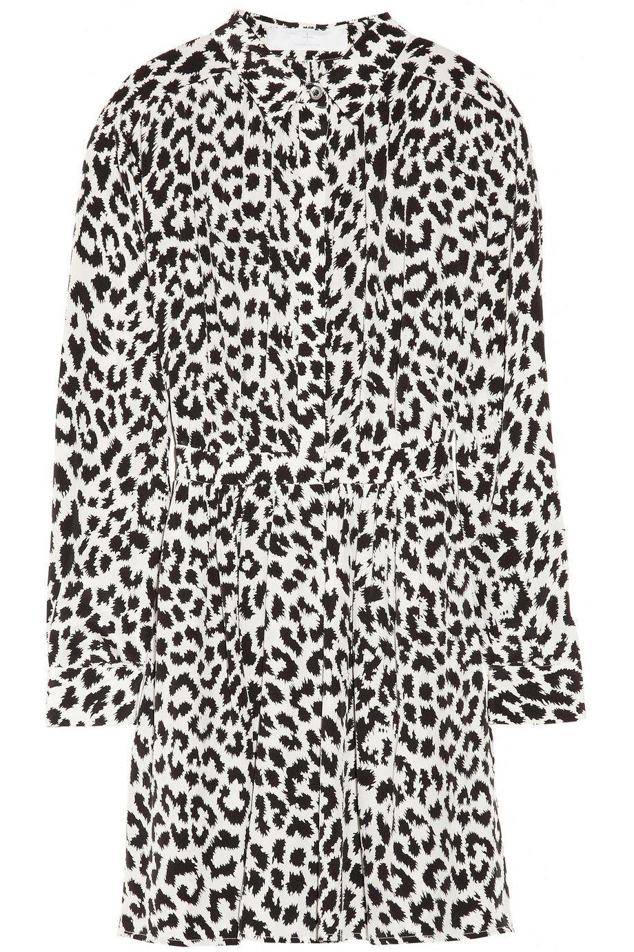 69e3d721c0b5 leopard print shirt dress | :: Wishlist :: | Silk shirt dress, Shirt ...
