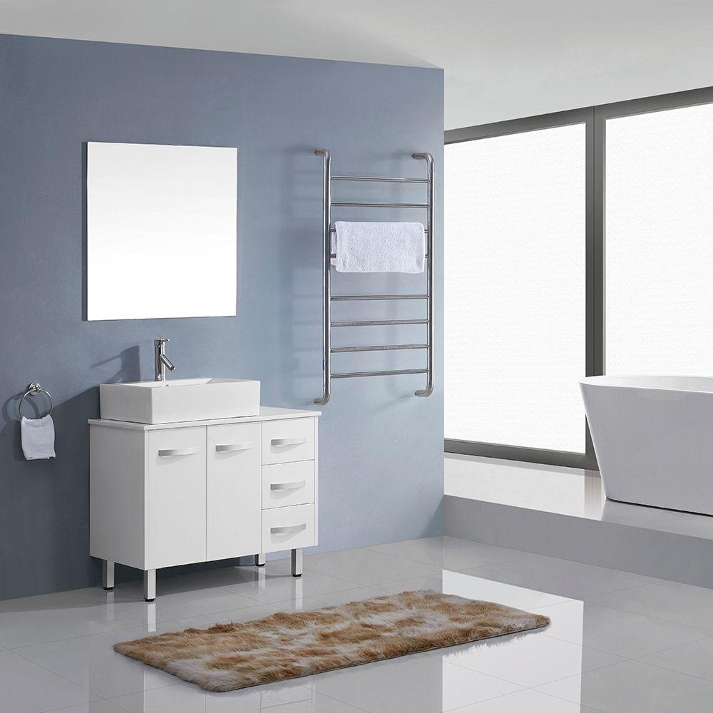 Virtu Usa Tilda 36 Inch White Single Sink White Stone Vanity Set