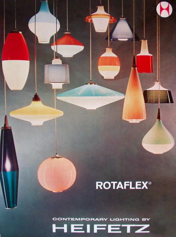 Vintage Ad for Heifetz's 'Rotaflex' Lighting Range