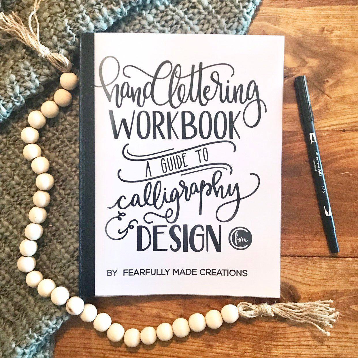 Handlettering Workbook Hand Lettering Worksheets