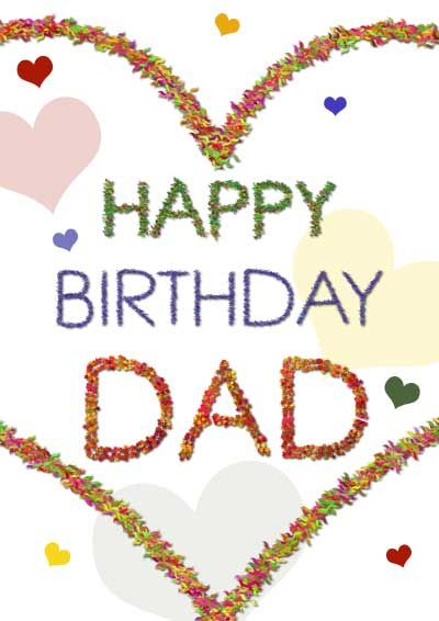 Awesome Birthday Dad Download Happy Birthday Dad With Hearts Printable Funny Birthday Cards Online Elaedamsfinfo