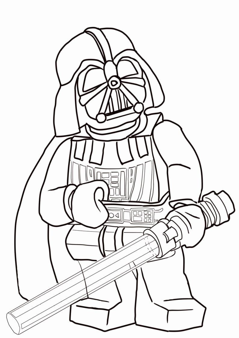 Lego Darth Vader Coloring Pages Inspirational Lego Star Wars ...