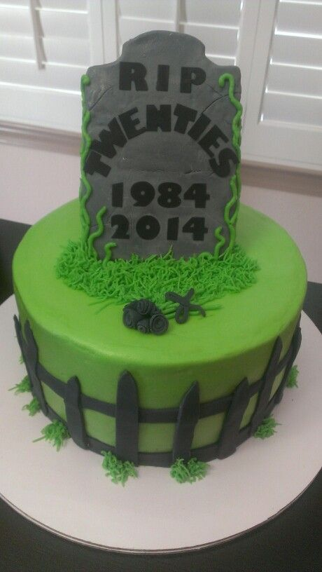 30th Birthday Cake Over The Hill Cake Rip Twenties Cake