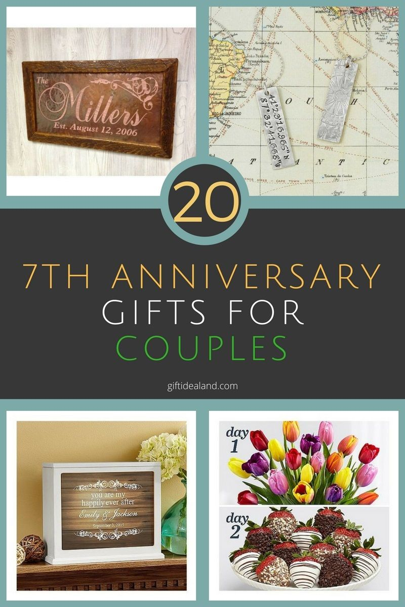 20 Great 7th Wedding Anniversary Gift Ideas For Him & Her ...
