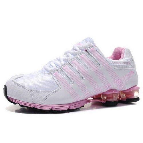 hot sale online 8b3ab a9d23 ... nike+shox+women Nike Shox NZ Women Preschool Running White Peach Shoes  ...