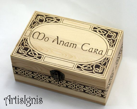 Mo Anam Cara Celtic Jewelry Box Trinket box Treasure box