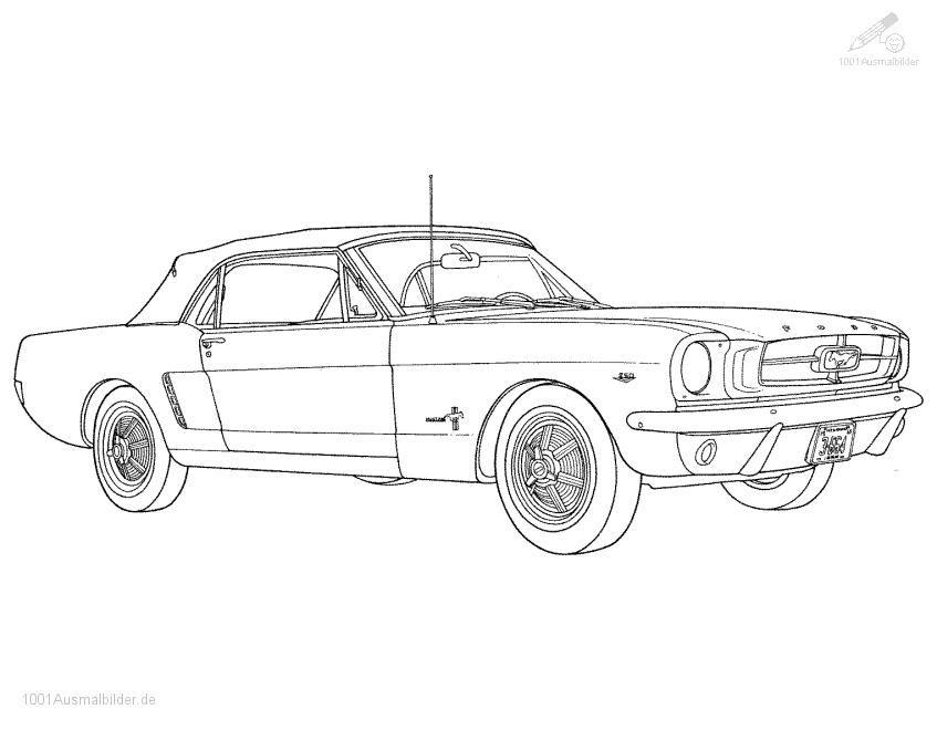 Ausmalbild Ford Mustang Ausmalen Ausmalbilder Und Auto