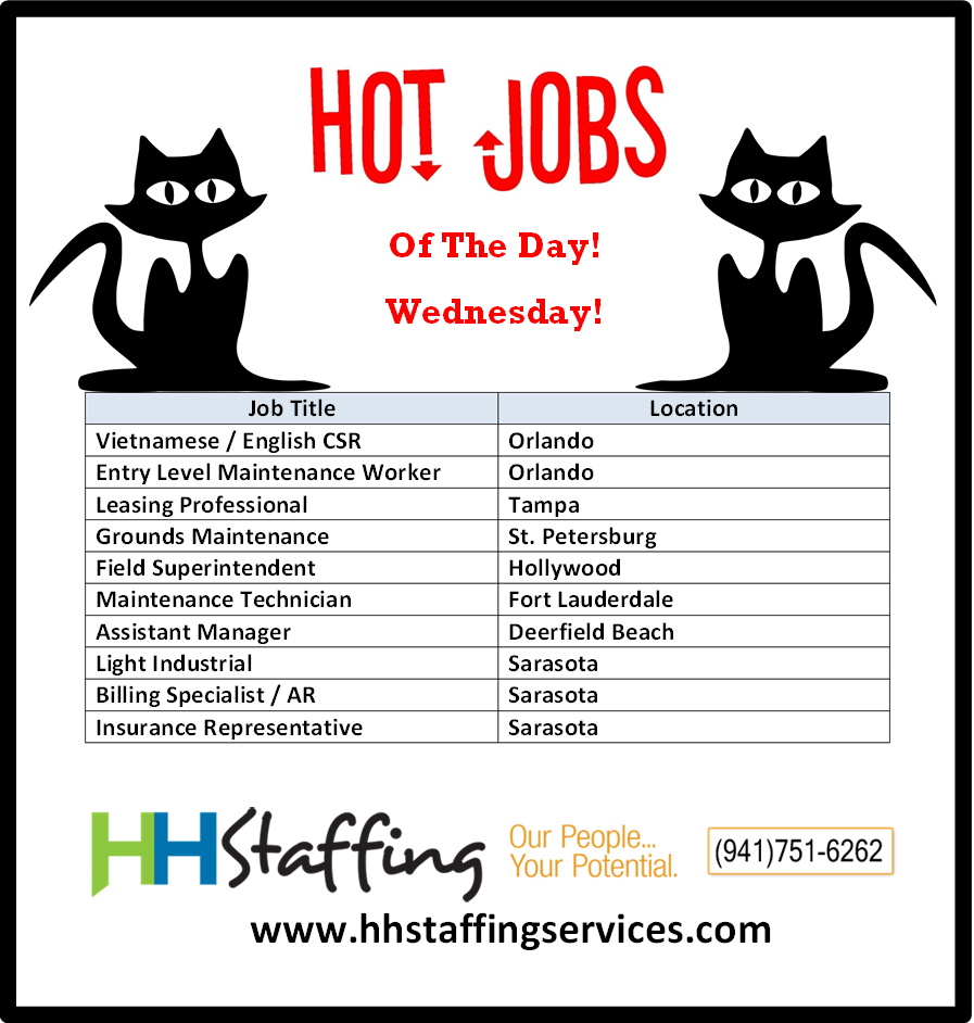 Hello Hello Jobseekers How Has Your Hump Day Been Ours Went By