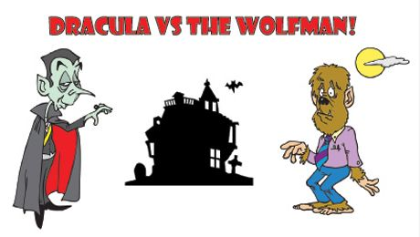 """Dracula vs. the Wolfman "" @ Delta King Theatre (Sacramento, CA)"
