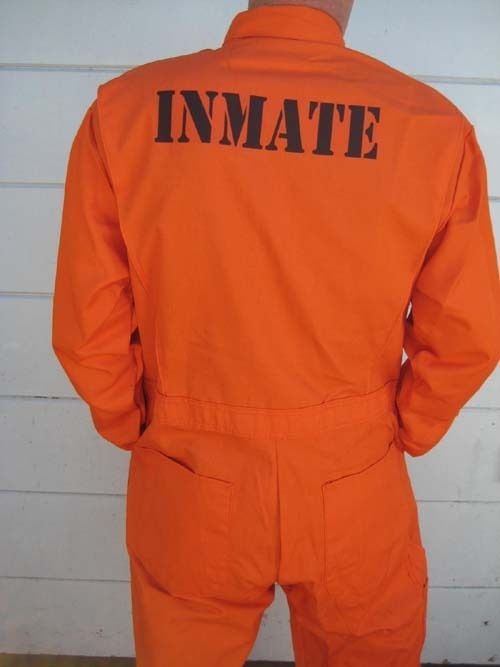 Details About Custom Printed Jail Inmate Prisoner Orange Jumpsuit