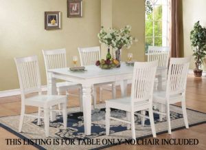 White Rectangle Dining Table Set  Httpfreshslots Beauteous White Dining Room Table Set Inspiration Design