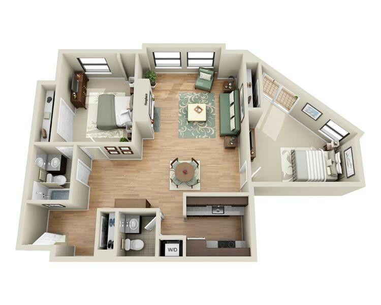 Pin By Pavla Jurikova On House Apartment Layout House Plans House Design