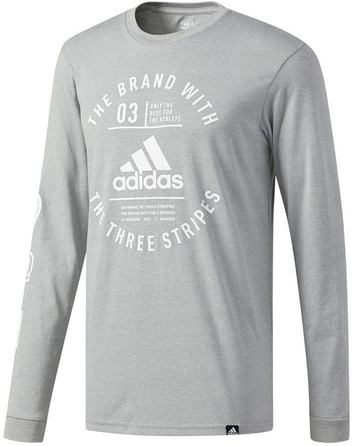 7f1d89469 Men's Graphic Long-Sleeve T-Shirt in 2019 | Men's Night | Adidas Men ...
