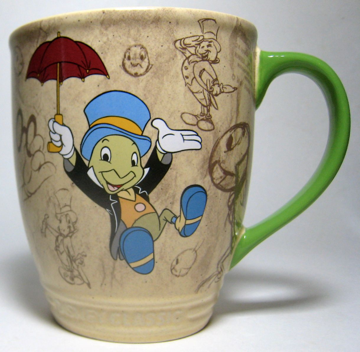 Let Your Conscience Be Your Guide To A Good Cup Of Coffee Jiminy Cricket Coffee Mug Disney Mugs Jiminy Cricket Disney Collectables
