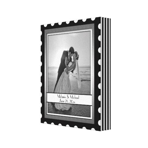 Black and White Stripe Frame Wrapped Canvas Stretched Canvas Prints ...