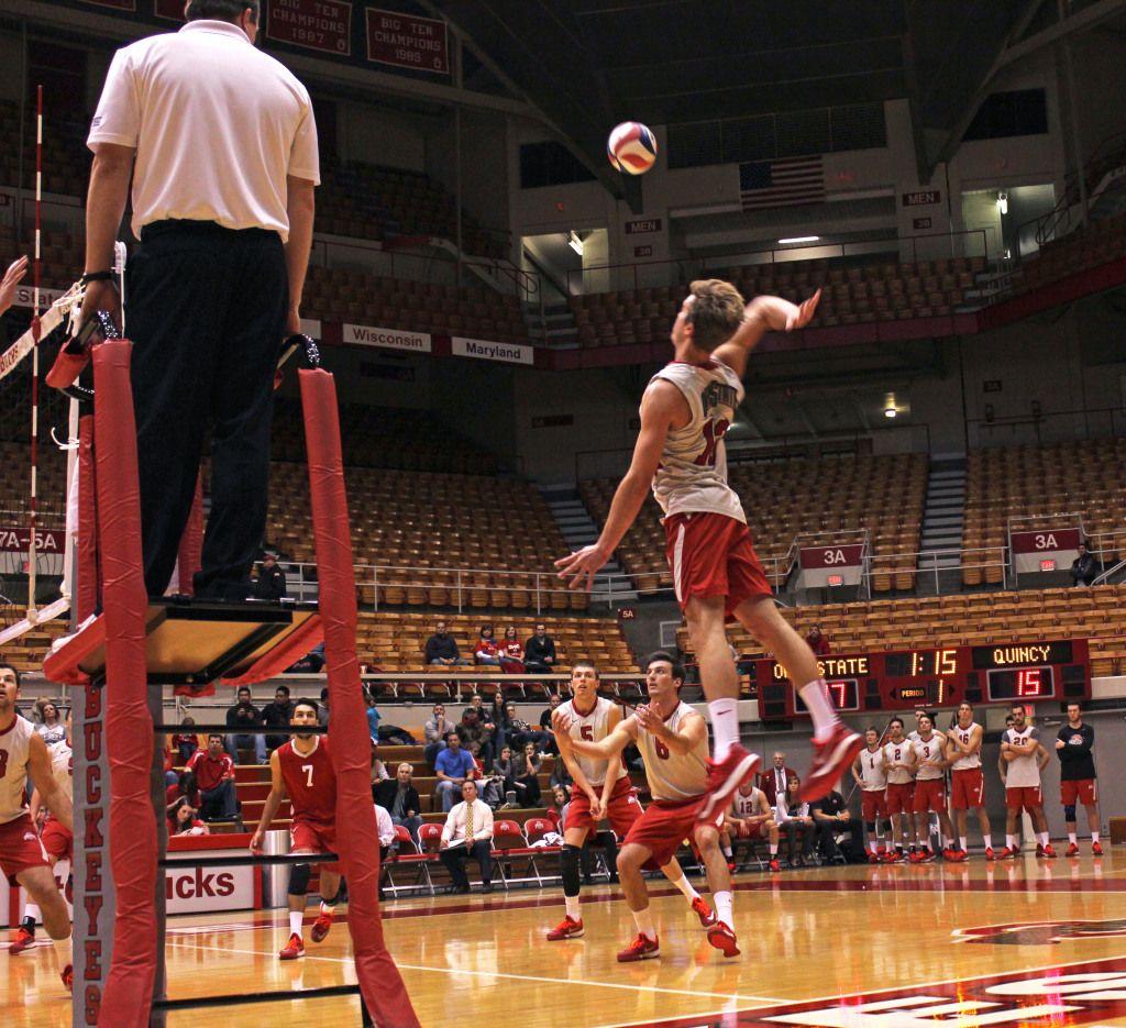 Gallery Osu Men S Volleyball Versus Quincy Win 3 0 Ohio State Game Mens Volleyball Ohio State