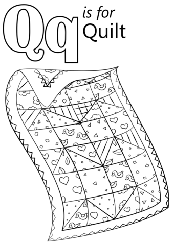 Letter Q Is For Quilt Coloring Page From Letter Q Category Select From 29179 Printable Crafts Of Ca Letter Q Crafts Abc Coloring Pages Alphabet Coloring Pages