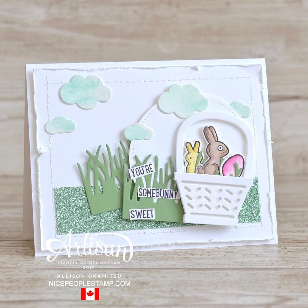 "Gefällt 15 Mal, 1 Kommentare - Allison Okamitsu (@nicepeoplestamp) auf Instagram: ""I'm sharing two cute Easter cards on my blog today as part of the #artisandesignteam blog hop. Make…"""